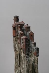 Piccolo villagio  Brons op kwartsiet